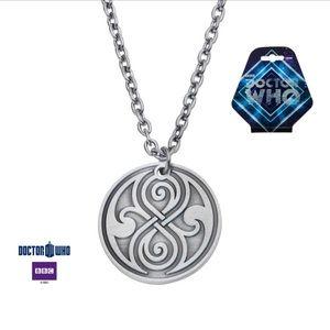 Doctor Who Antique Tin Seal of Rassilon Pendant